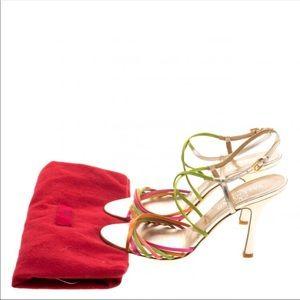 VALENTINO Multicolor Satin Strappy Sandal